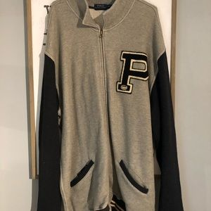 Polo Ralph Lauren Zip Up Sweater Football XXXLT